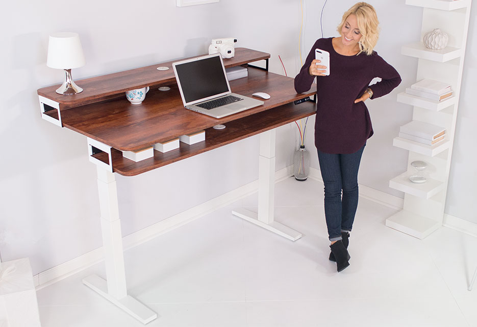 Sensational Adjustable Height Standing Desks By Nookdesk Home Interior And Landscaping Elinuenasavecom