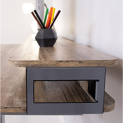 Upper Storage desk platform storage